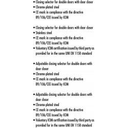 ΜΗΧΑΝΙΣΜΟΣ ΠΡΟΤΕΡΑΙΟΤΗΤΑΣ CISA 07084-10-0 ΓΙΑ ΔΙΦΥΛΛΕΣ ΠΟΡΤΕΣ