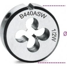 Φιλιέρα Στρογγυλή Σπείρωμα Whitworth από Χρωμιούχο Χάλυβα Beta 440ASW 004400212 Ar...