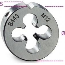 Φιλιέρα Στρόγγυλη, Λεπτό Βήμα, Μετρικό Σπείρωμα, HSS Beta 443 004430107 Art.443 (M...