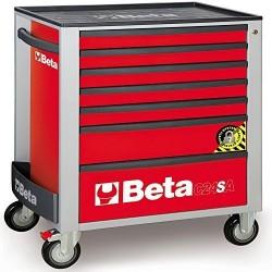 Εργαλειοφορέας Τρόλεϊ με 7 Συρτάρια, με Σύστημα κατά Aνατροπής, C24SA/7-R κόκκινο BETA 024002173