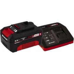 ΣΕΤ ΤΑΧΥΦΟΡΤΙΣΤΗΣ 30 ΛΕΠΤΩΝ  KAI  ΜΠΑΤΑΡΙΑ Power-X-Change Starter Kit 18V 4,0Ah EINHELL 4512042 18V
