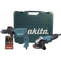 Σετ Κρουστικό Δράπανο 710W HP1631 και Γωνιακός Τροχός 115mm / 720W GA4530R σε Βαλιτσάκι Makita DK0049X1