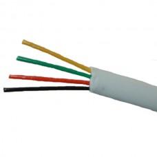 ANGA ST-T401 Καλώδιο τηλεφώνου πλακέ τετραπλό σε Λευκό χρώμα (100μ) CCA
