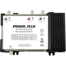 Power Plus Master 10 Κεντρικός Ενισχυτής με εισόδους BI+DATA - BIII - UHF Ενίσχυση 40dB/114dBμV Συμβατός με επίγεια ψηφιακή με ενσωματωμένο φίλτρο 4G LTE