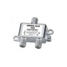 Power Plus S505 Μίκτης - Διαχωριστής TV/SAT επιγείου και δορυφορικού σήματος για εσωτερικό χώρο ΑΜΦΙΔΡΟΜΟ