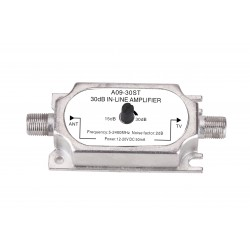 Ενισχυτής γραμμής TV/SAT ρυθμιζόμενος ενίσχυση 30dB 5-2400MHz A09-30ST