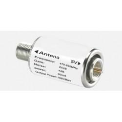 Ενισχυτης γραμμης TV 20dB/ DC5V-108dBμV εξοδος-470-860MHz A12-20-5V